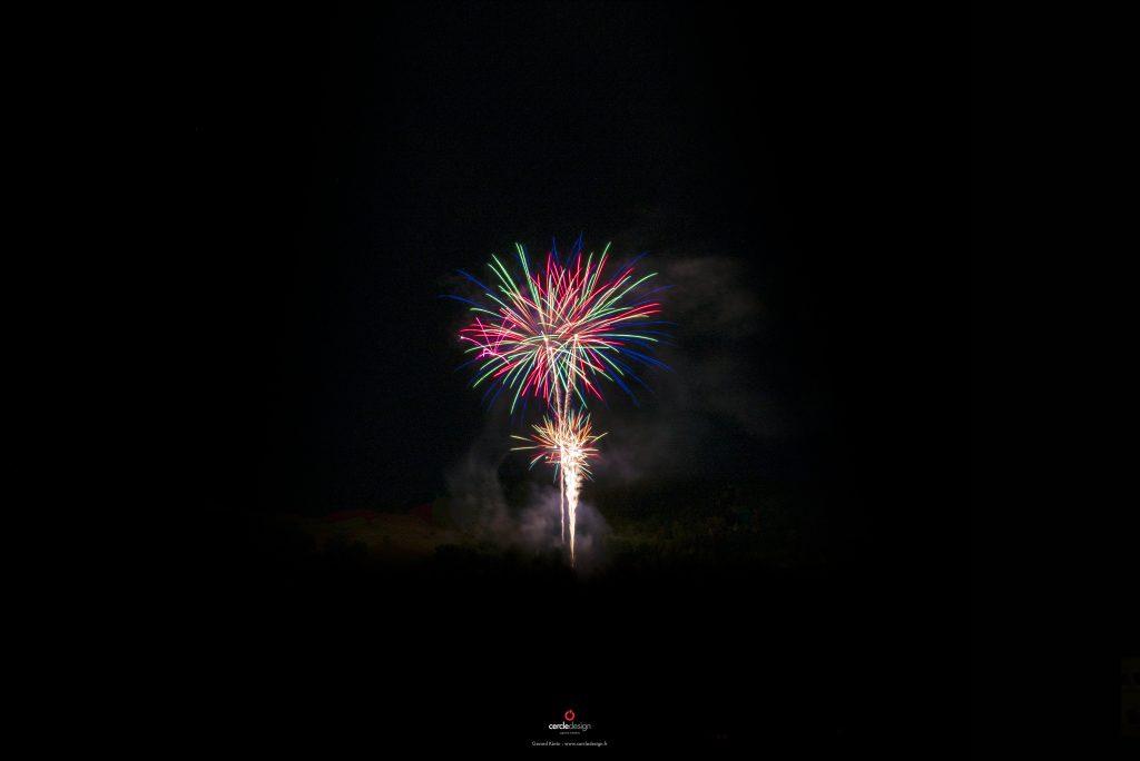 Photographe Vosges : Feu d'artifice La Bresse 2020